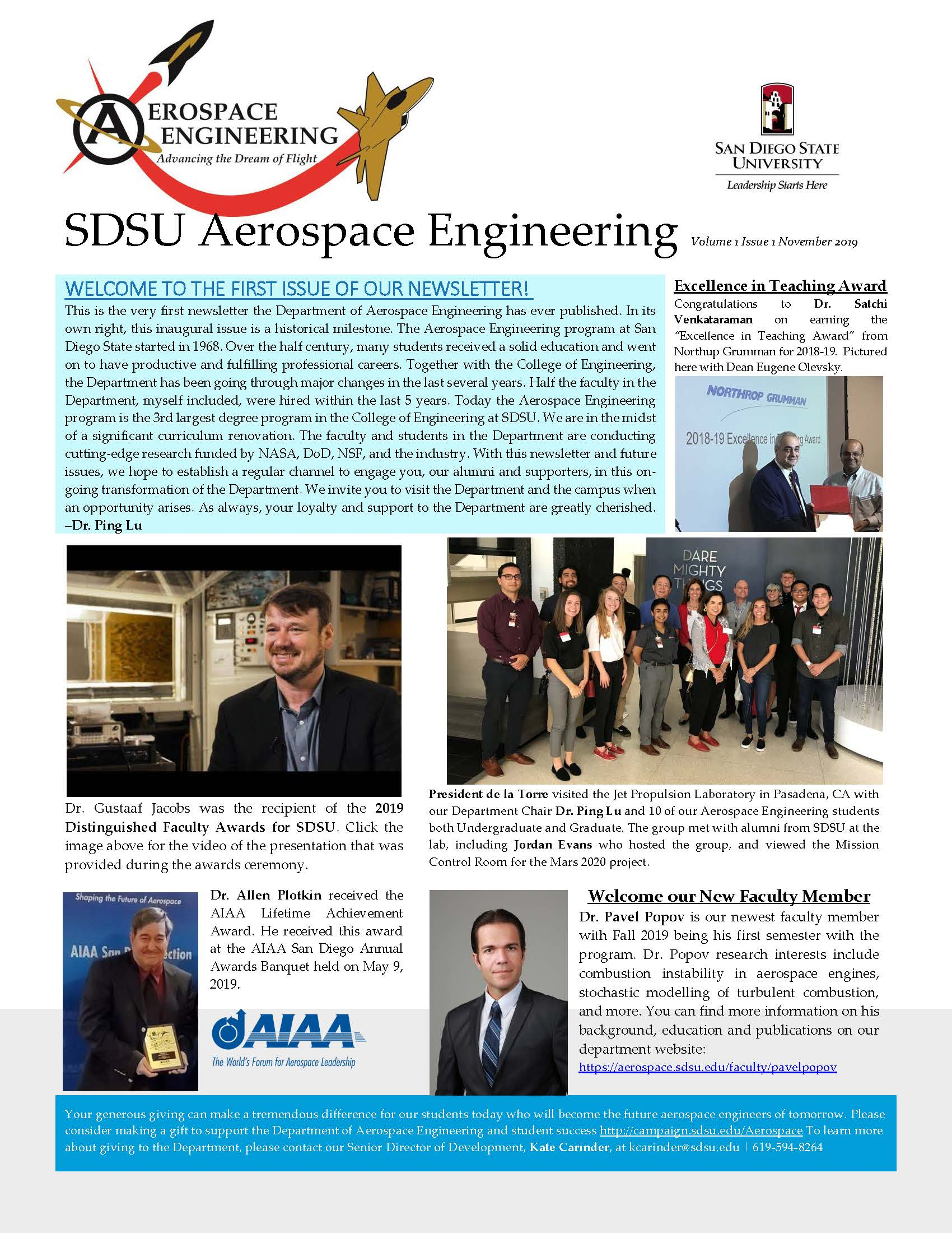 AE Newsletter Volume 1 Issue 1 November 2019