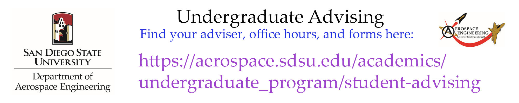 AE Undergraduate Advising: Office Hours, Advisers, forms (link)